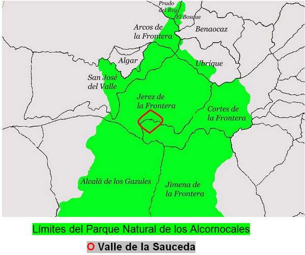 Situación de la Sauceda