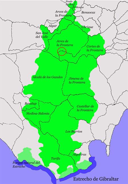 El Marrufo-La Sauceda dentro del Parque Natural de Los Alcornocales