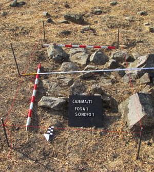 Marcación arqueológica fosa