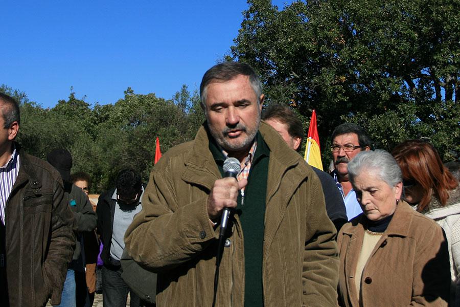 Luis Naranjo durante su intervención