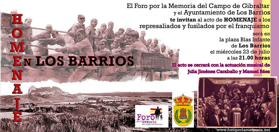 Homenaje en Los Barrios