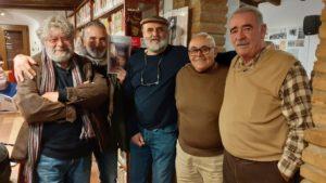 El compañero Ayala, a la derecha de la imagen en un momento del tercer aniversario de la Casa de la Memoria, en Jimena.